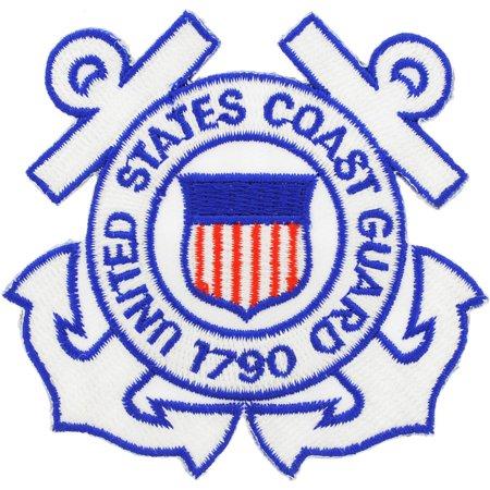 "U.S. Coast Guard Auxiliary Patch White 3"""