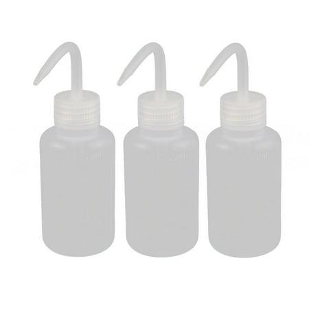 3 Pcs 150ml 2mm Dia Plastic Sharp Beak Elbow Squeeze Bottle Succulents Watering
