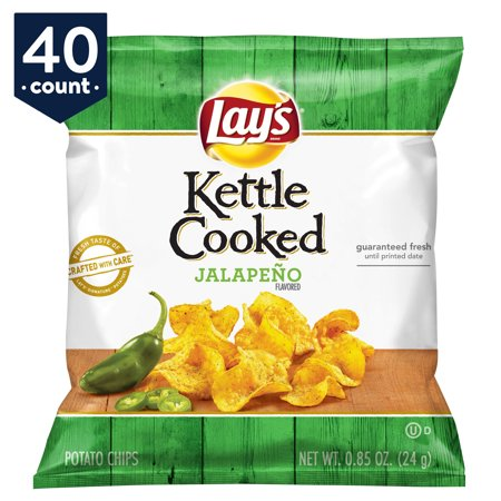 Blairs Jalapeno (Lay's Kettle Cooked Potato Chips Snack Pack, Jalapeno, 0.85 oz Bags, 40 Count )