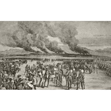 The Burning Of The Zulu Royal Kraal At Ulundi After The Battle Of Ulundi Kwa-Zulu-Natal Province South Africa From Afrika Dets Opdagelse Erobring Og Kolonisation Published In Copenhagen 1901 Canvas Ar