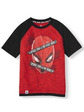 Marvel Spider-Man Short Sleeve Graphic Two Tone T-Shirt (Little Boys & Big Boys)