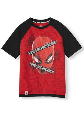 Marvel Spider-Man Short Sleeve Graphic Two Tone T-Shirt (Little Boys & Big Boys)