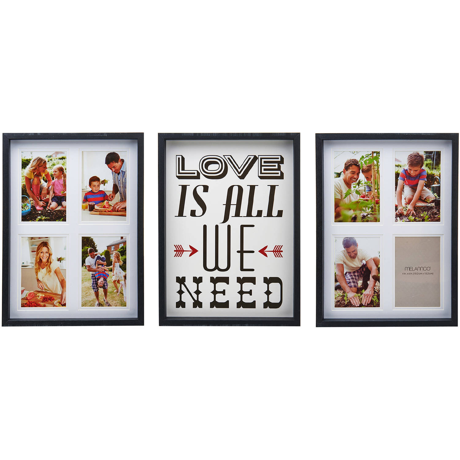 Melannco 3-Piece Love is All We Need Collage Set