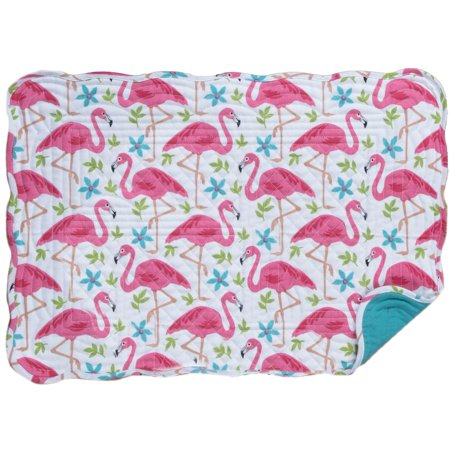 Kay Dee Designs Flamingo Quilted Placemat One Size White/pink/blue Machine Quilted Placemat
