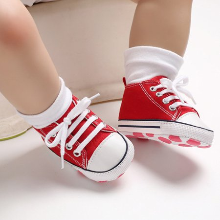 canvas Toddler Newborn Baby Shoes Non-slip Bottom Soled Shoes Keep Warm Comfortable Shoe - image 1 de 6