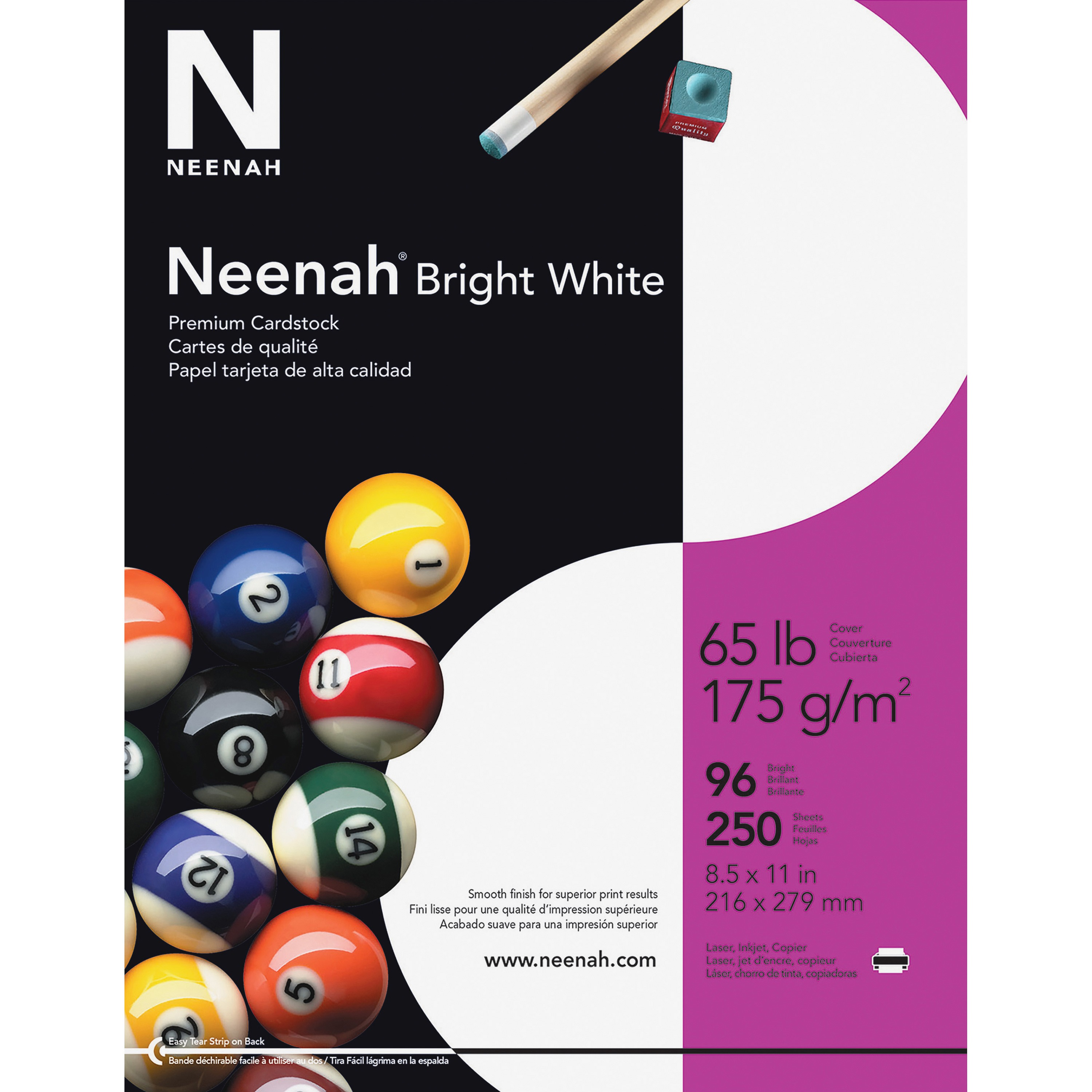 Neenah Printable Multipurpose Card, Bright White, 250 / Pack (Quantity)