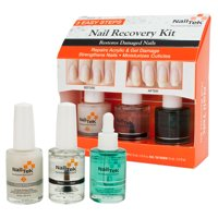 Nail Tek Nail Recovery Kit for Damaged Nails Base Coat Strengthener, CLEAR, 55840