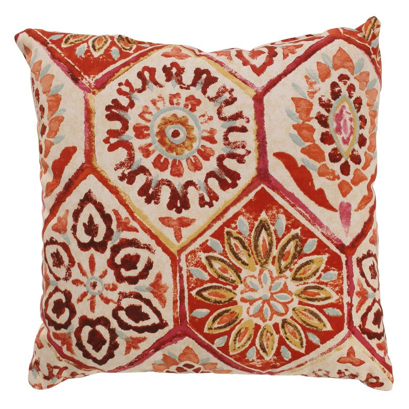 Pillow Perfect Summer Breeze Crimson Throw Pillow