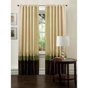 "Mia Green/Chocolate Window Curtains, Pair, 54"" x 84"""