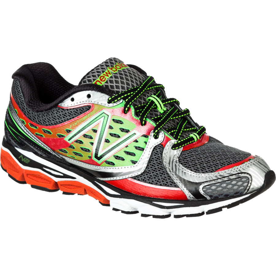 New Balance Men's M1080v3 Running Shoe,Red/Green