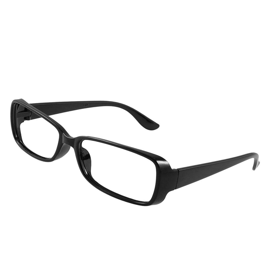 black plastic arm retro style spectacles glasses