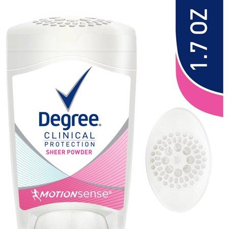Degree Clinical Protection Sheer Powder Anti Perspirant   Deodorant  1 7 Oz