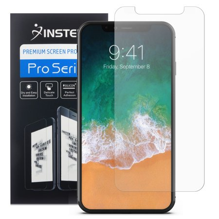 iPhone X Screen Protector (3-PACK), by Insten Ultra Clear PET 3D ...