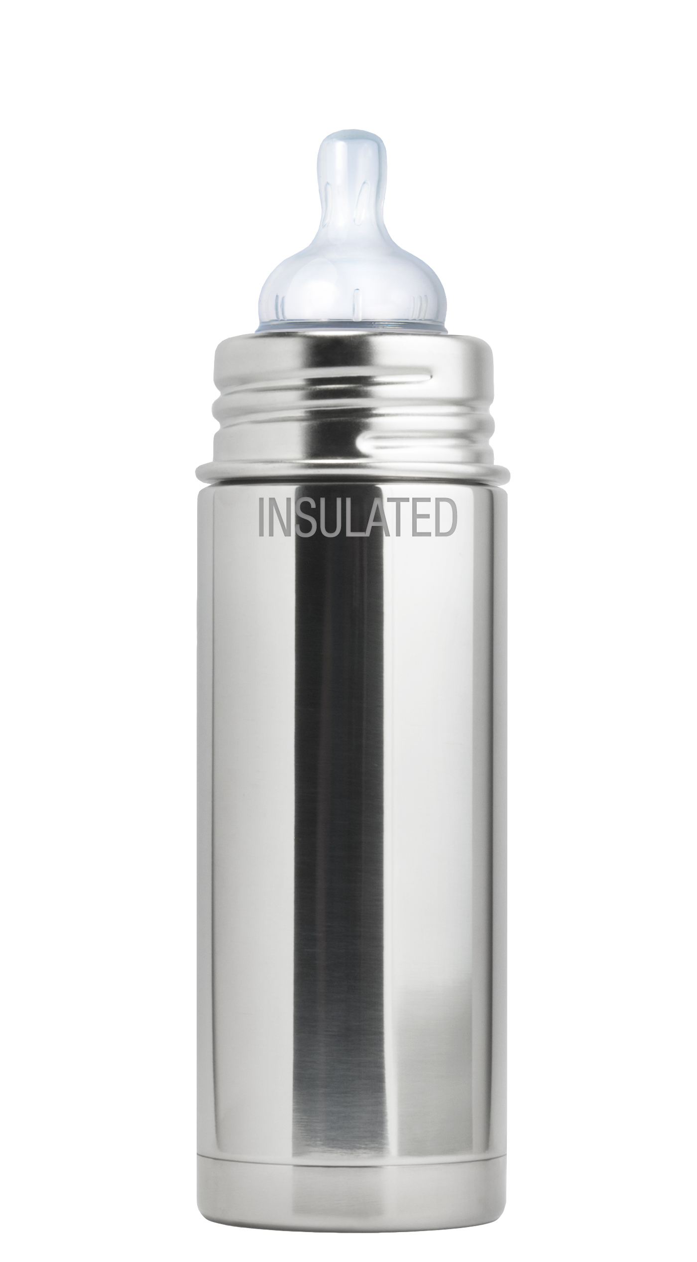 Plastic Free, Nontoxic Certified, BPA Free Pura Sport 16 OZ//473 ML Stainless Steel Water Bottle with Silicone Sport Flip Cap /& Sleeve