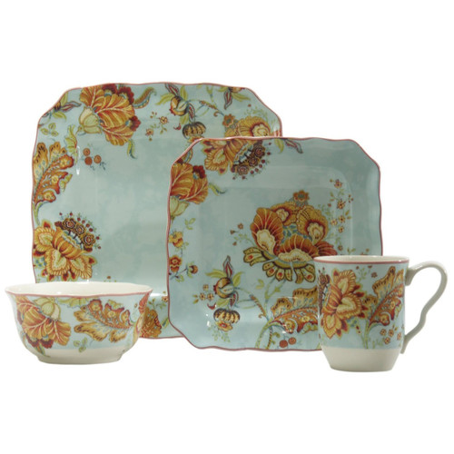 222 Fifth Gabrielle 16 Piece Dinnerware Set, Service for 4