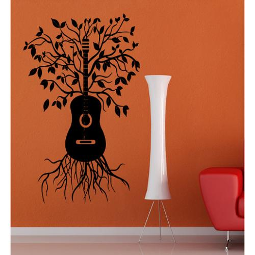 Stickalz llc Guitar and Tree Wall Art Sticker Decal