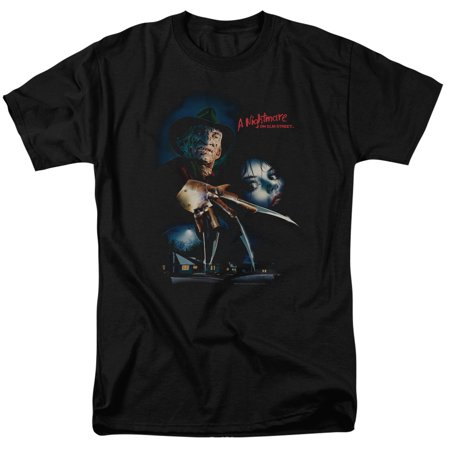 Nightmare On Elm Street Elm Street Poster T Shirt Trevco Black Adult Unisex 100  Cotton Short Sleeve