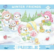 Precious Moments Winter Friends 1000 Piece Puzzle,  Christmas Puzzles by Go! Games