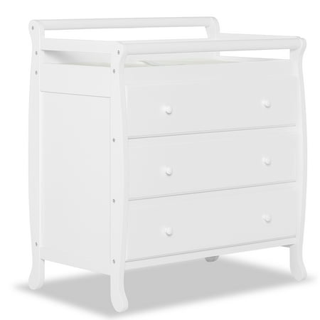 Dream On Me Liberty 3-Drawer Changing Table with Pad, White