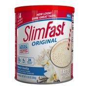 SlimFast Original Meal Replacement Shake Powder, French Vanilla, 12.83 Oz, 14 servings