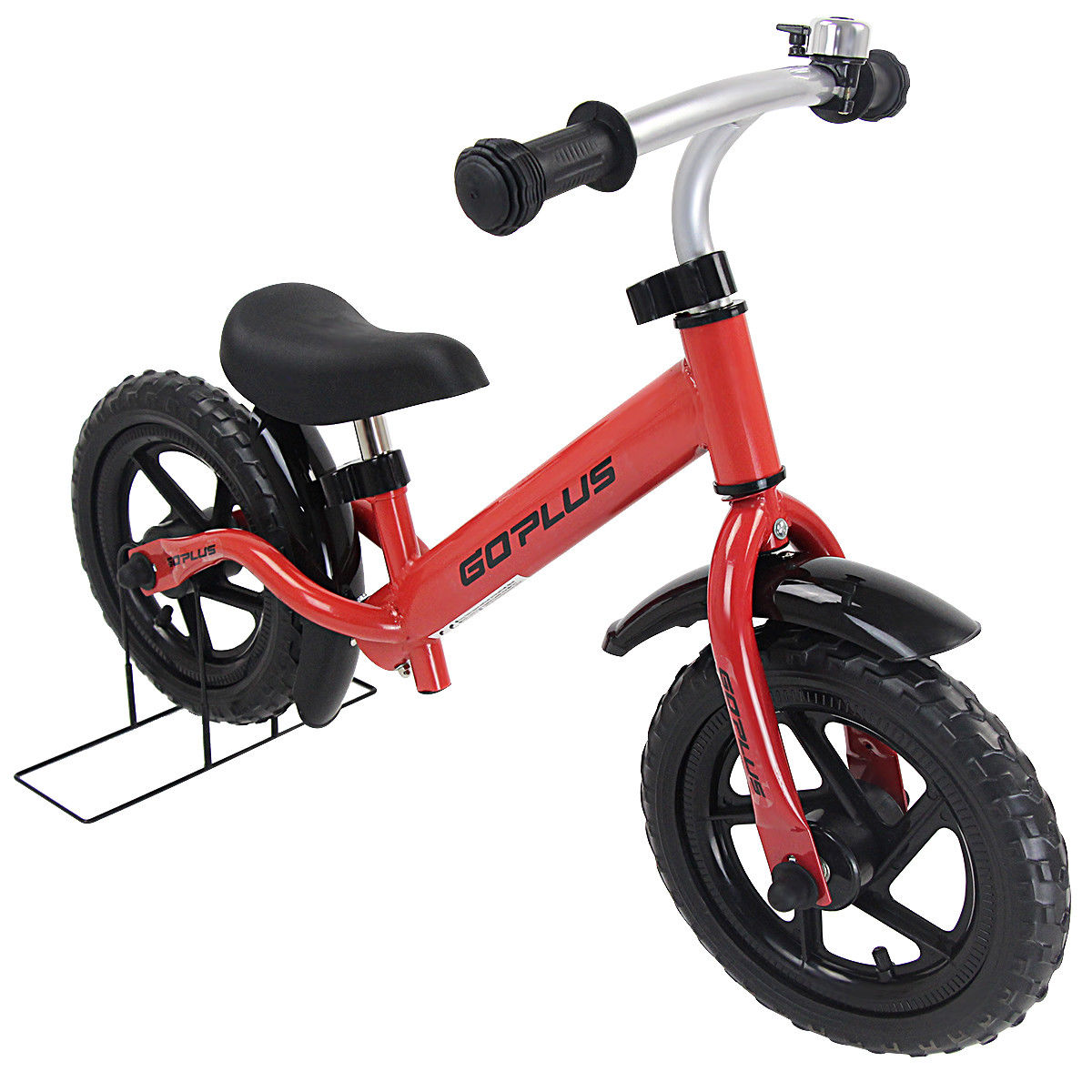 Goplus 12'' Kids Balance Bike No-Pedal Learn To Ride Pre Bike Adjustable Seat Bike Stand