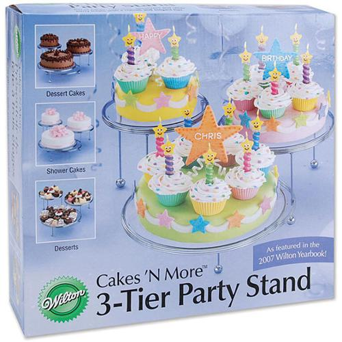 Wilton Cakes 'N More 3-tier Party Cake Stand