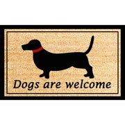First Impression Dogs Are Welcome Printed Door Mat