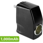 Cellet 1000mAh output AC wall to DC Car Cigarette lighter port 110-Volt to 12-Volt AC/DC Power Converter Female Adapter
