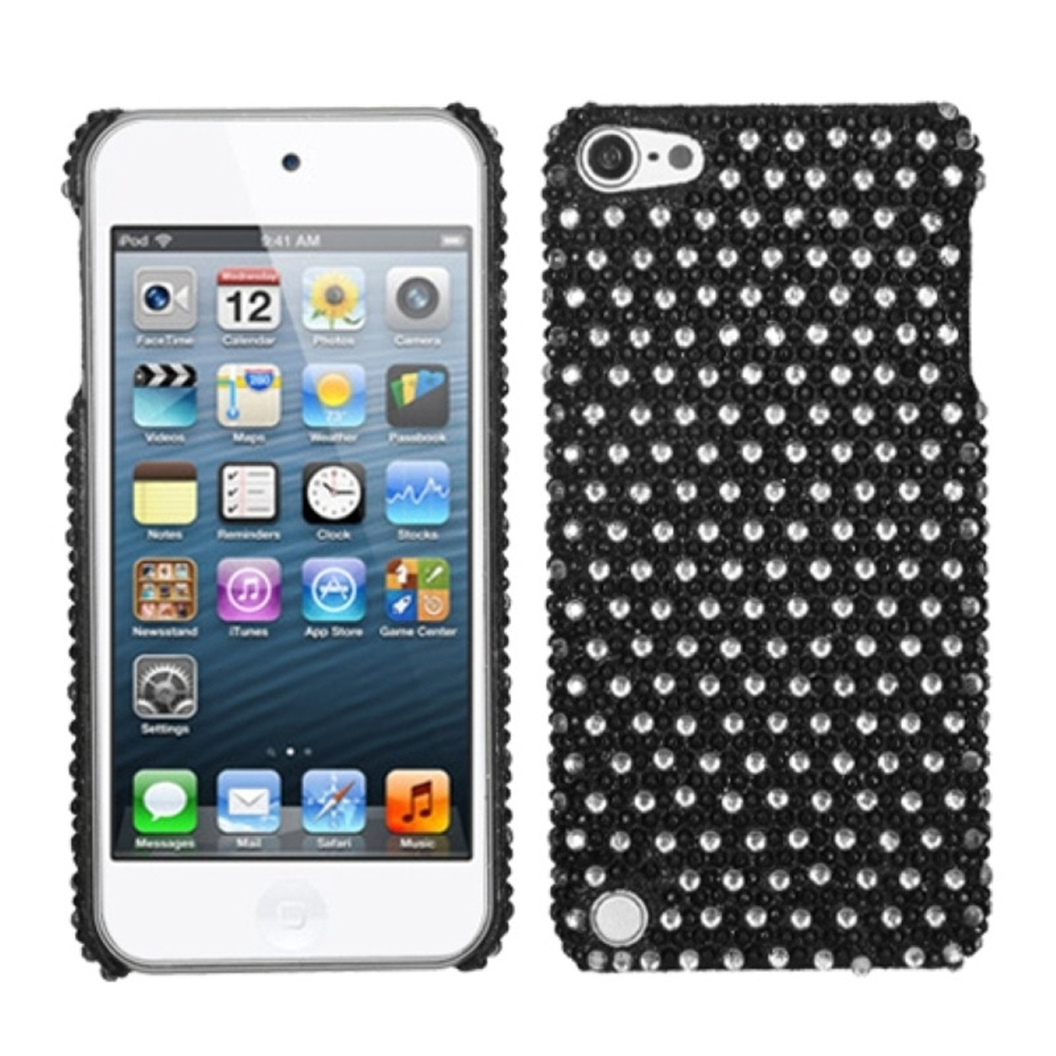 Insten Dots(Black/white) Diamante Back Case for iPod touch (5 5G 5th 6 6G 6th Gen)