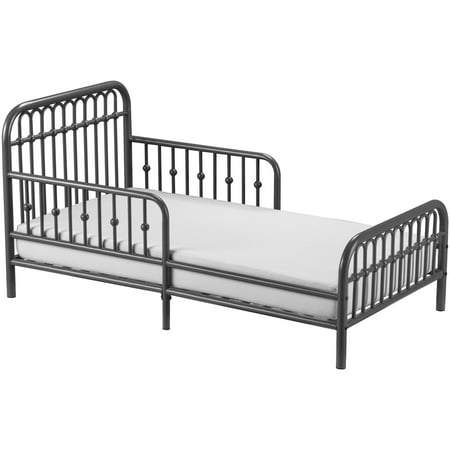 Little Seeds Monarch Metal Toddler Bed, Gray - Walmart.com