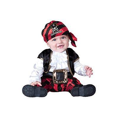 Captain Crunch Halloween Costume (incharacter costumes baby's cap'n stinker pirate costume, black/white/red,)