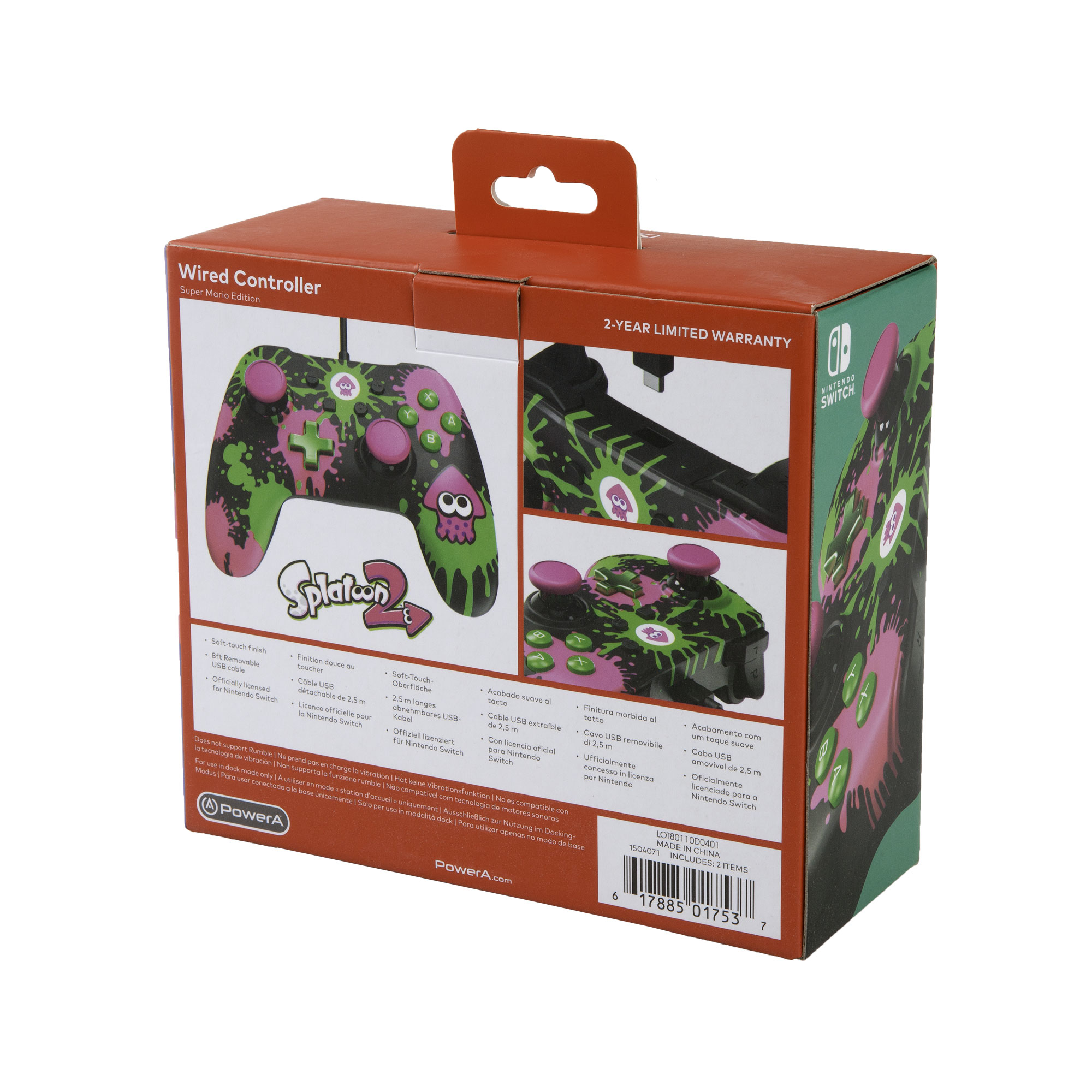 PowerA Wired Controller for Nintendo Switch - Splatoon 2 (1504071-01)