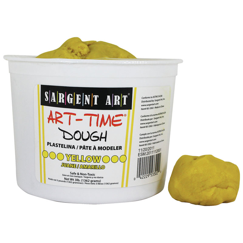 3LB ART TIME DOUGH - YELLOW