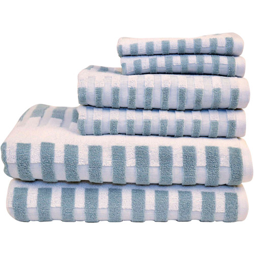Better Homes and Gardens 6-Piece Extra-Absorbent Stripe Bath Towel Set