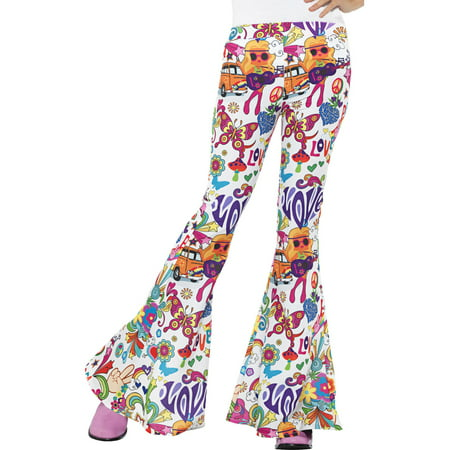 Adult's Womens 70s Flared Groovy Hippie Disco Pants Costume