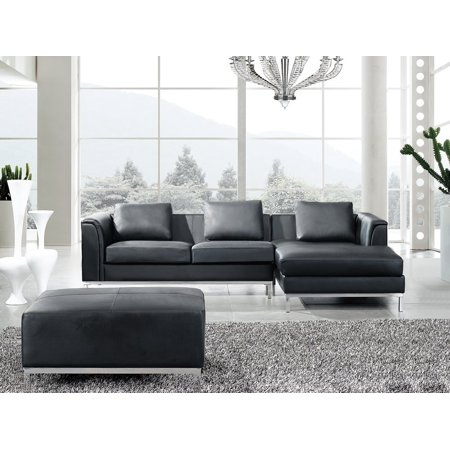 Swell Sectional Sofa L Black Leather Oslo Inzonedesignstudio Interior Chair Design Inzonedesignstudiocom