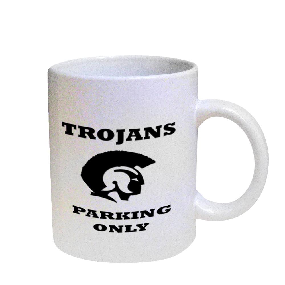 KuzmarK Coffee Cup Mug Pearl Iridescent White - Trojans Parking Only