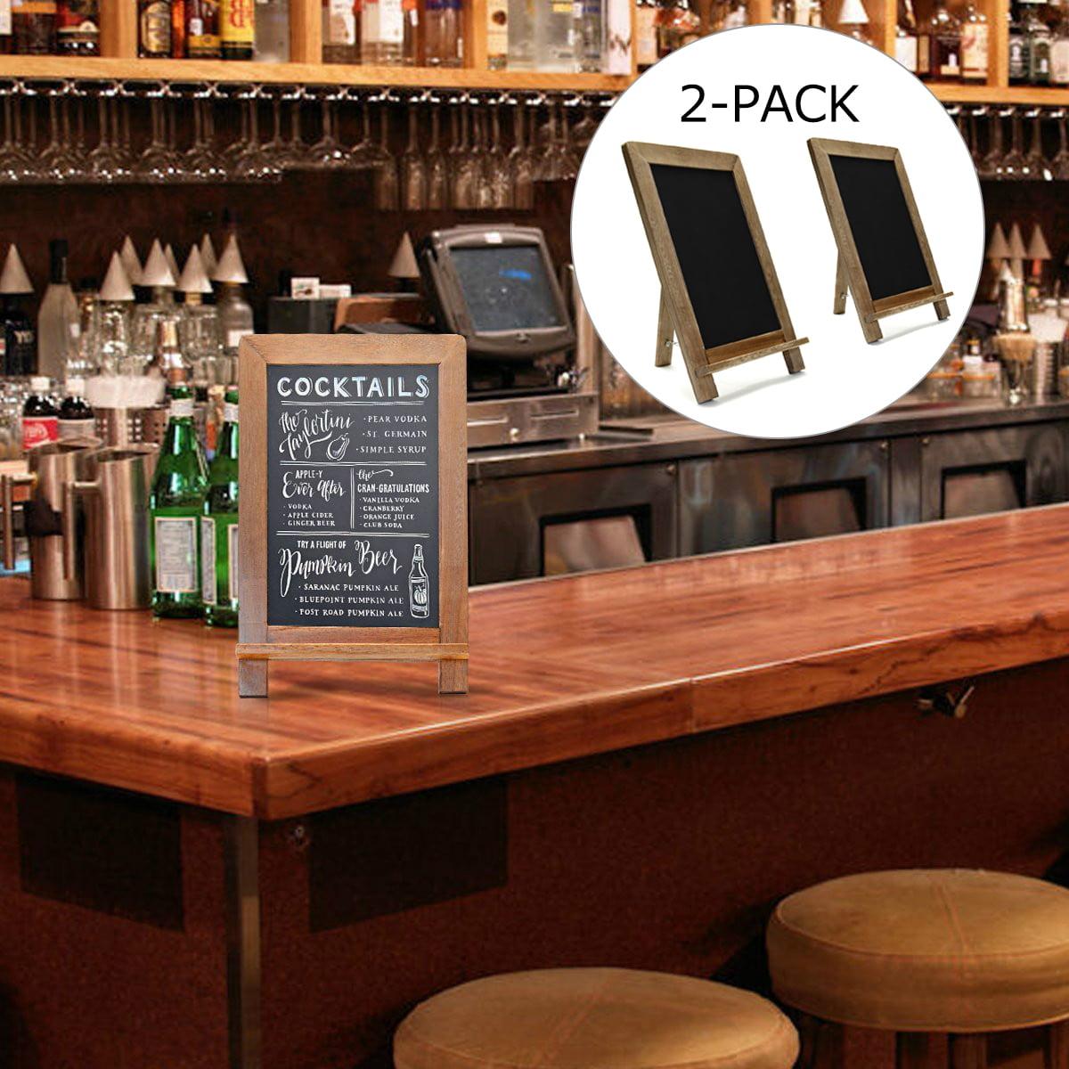 2 PACK Memo Message Chalkboard Note Sign Vintage Blackboard for Wedding Kitchen Bar by