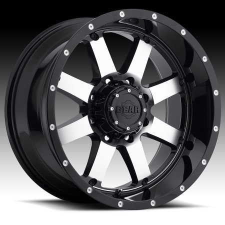 Pontiac Big Block - Gear Alloy 726M Big Block Machined Black 17x9 5x5 / 5x5.5 -12mm (726M-7900912)