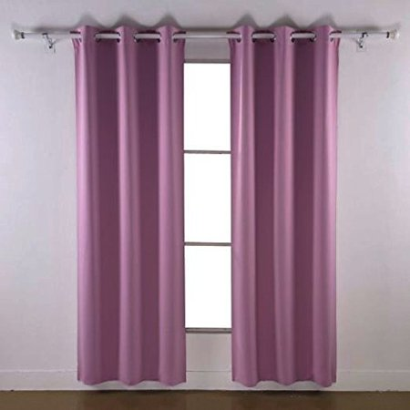 (Angel Solid Grommet Blackout Panel Curtain Thermal - 108 Inch - Lilac)