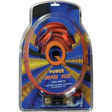 3.5 Super Flex Kit (QPOWER 0GAMPKITSFLEX 0 Gauge Amp Kit, Super)