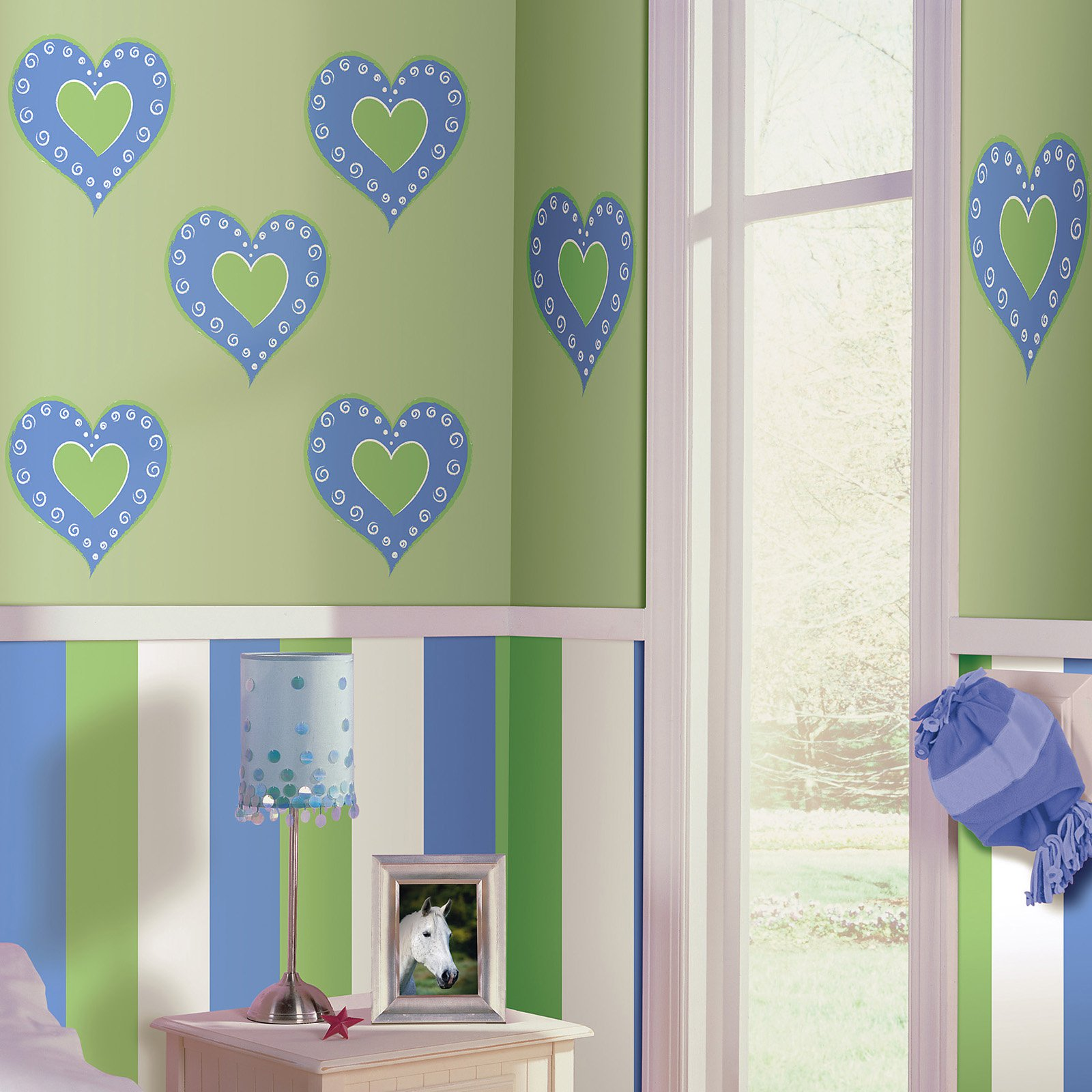 Wall Pops Heart Of Hearts (Blue) Dot Wall Decals