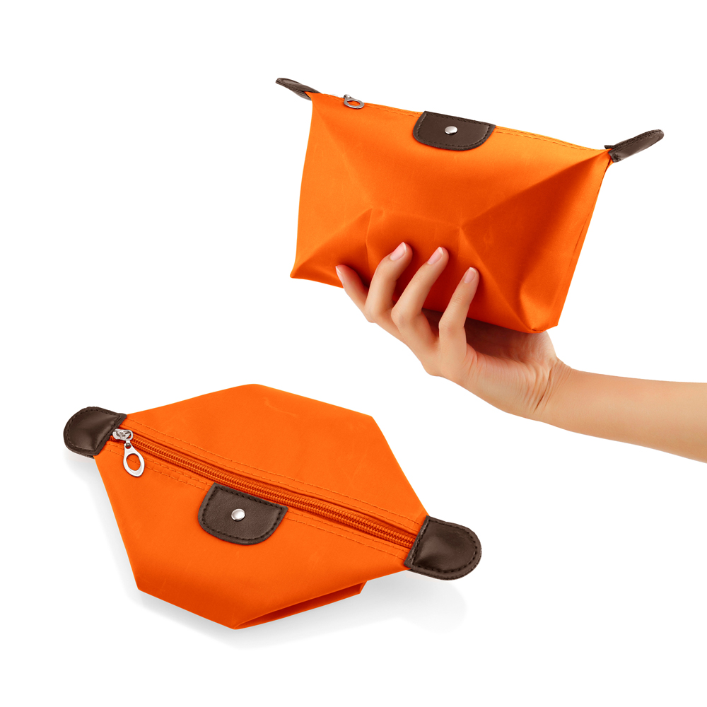 Travel Cosmetic Bag Storage Pouch Purse Makeup Case Multifunction Toiletry Zipper Organizer Handbag    - Orange