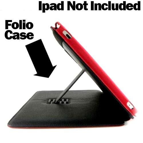 Mwave Leather Folio Case for iPad-IR-1350-BK