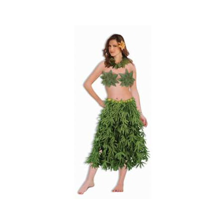 GREEN LEAF SET-BRA,LEI,SKIRT (Ladies Skirt Sets)