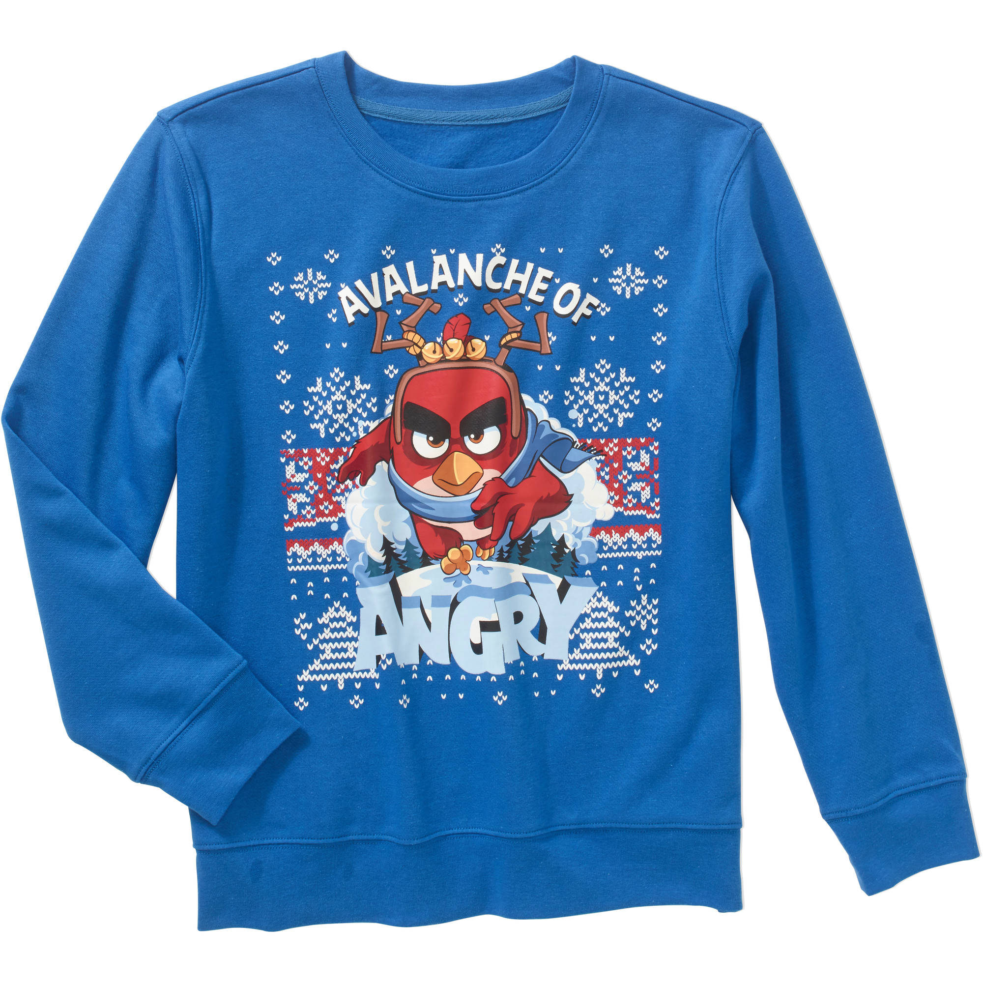"Angry Birds ""Avalanche of Angry"" Boys' Long Sleeve Crewneck Graphic Sweatshirt"