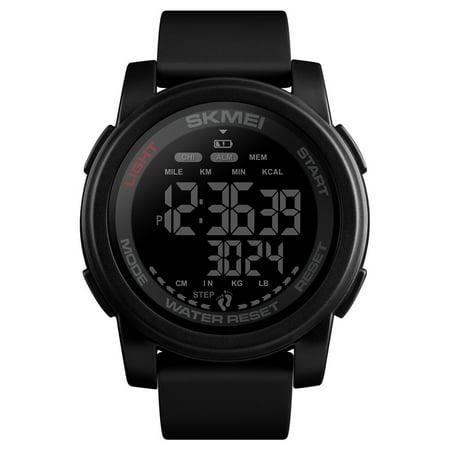 SKMEI 1469 Analog Digital Watch Man Sport Watch 50M Waterproof Tracker Pedometer Monitor Calories Monitor Smart Bracelet Fashion Alarm Couple Wrist Watch Sport Band Alarm Band Wrist Watch