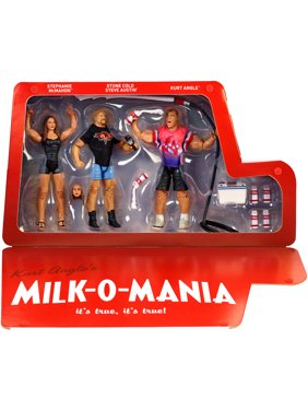 Milk-o-Mania (Kurt Angle, Stone Cold & Stephanie McMahon) - WWE Epic Moments Toy Wrestling Action Figures