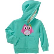 Toddler Girl Cozy Sherpa Zip Hoodie