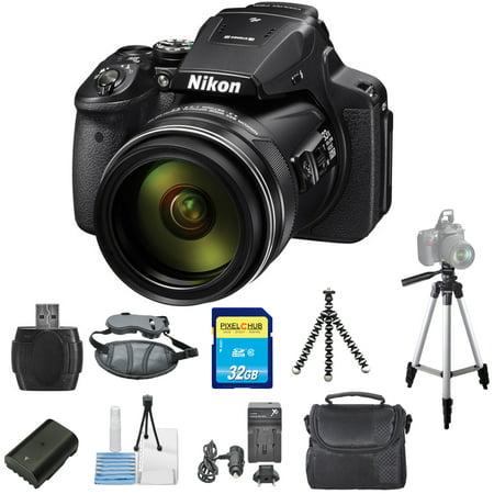 Nikon COOLPIX P900 16MP Digital Camera STARTER BUNDLE In Black! NEW!